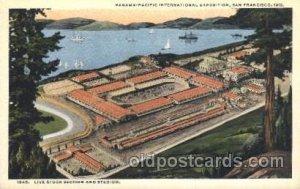 Live Stock Section and Stadium 1915 Panama Worlds Fair, San Francisco, CA USA...