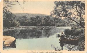 Bourndale MA Man in Rowboat Catches Glimpse of Foundry Pond~1920s