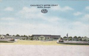 Calllaway's Motor Court, GRIFFIN, Georgia, 30-40's