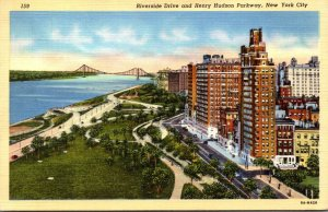 New York City Riverside Drive and Henry Hudson Parkway 1941 Curteich