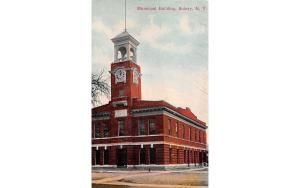 Municipal Building Sidney, New York Postcard