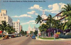 Florida Miami Beach Exclusive Hotels On Collins Avenue 1940 Curteich