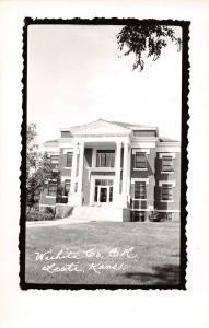 Kansas Ks Postcard Real Photo RPPC c1950 LEOTI Wichita County Court House