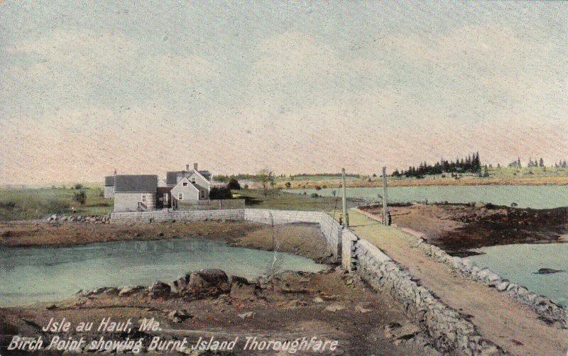 ISLE AU HAUT, Maine, 1900-1910s; Birch Point Showing Burnt Island Thoroughfare