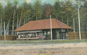 MANCHESTER, New Hampshire, 1910 Trolley Station , Pine Island Park