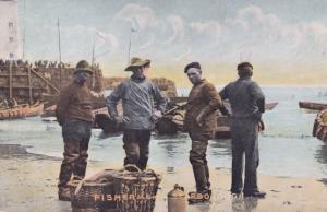 Scarborough Yorkshire Fisherman 1907 Old Postcard