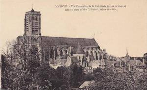General View Of The Cathedrale (Before The War), Soissons (Aisne), France, 19...
