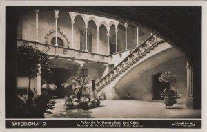 Barcelona Barri Gotic Pati Real Photo Spanish Old Postcard