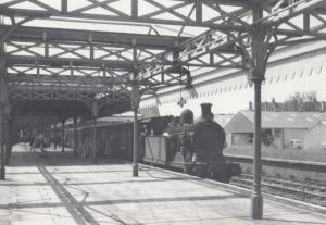 Bexhill West Station in 1958 0-4-4T Train Engine Railway Postcard