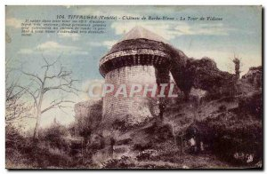 Old Postcard Chateau Tiffauges Bluebeard Tower Viscount
