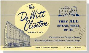 Albany, New York/NY, De Witt Clinton Hotel Ink Blotter