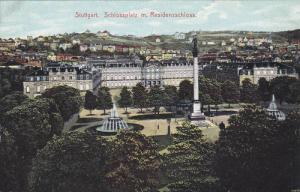 Stuttgart, Sclossplatz m. Residenzschloss, Baden-Wurttemberg, Germany, 00-10s
