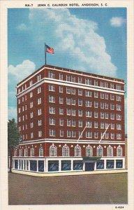 John C Calhoun Hotel Anderson South Carolina
