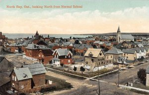 North Bay Ontario Canada looking north from Normal School antique pc ZD686017