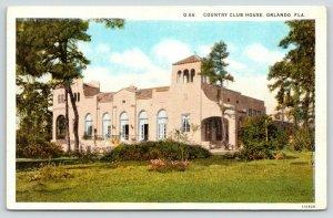 Orlando Florida~Country Club House~Windows Open~1920s Postcard