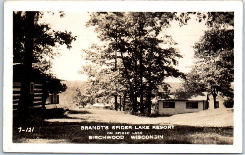 Birchwood, Wisconsin RPPC Real Photo Postcard BRANDT'S