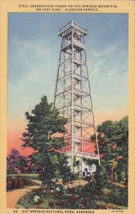 Steel Observation Tower On Hot Springs Mountain 165 Feet Elevator Service Hot...