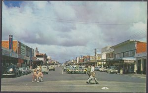SOUTHPORT - NERANG STREET, view shows the main street and shopping centers 1960s