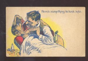 HERE IS SOMETHING TO LOOK INTO DENTIST VINTAGE COMIC POSTCARD BLACK AMERICANA