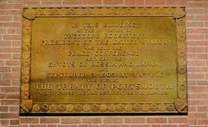 NH - Portsmouth Navy Yard. Peace Envoys of Japan and Russia, Plaque