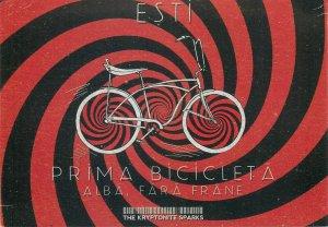 Romanian Pegas bicycle The Kriptonite Sparks advertising postcard
