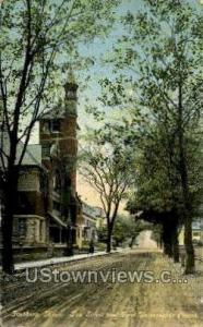 Day St. & First Universalist Church Fitchburg MA 1912