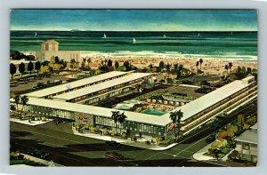 Santa Monica CA-California, Surf Rider Inn, Chrome Postcard