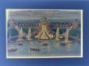 World's Fair 1904 St. Louis - CASCADE GARDENS - Hold To Light Vintage Postcard