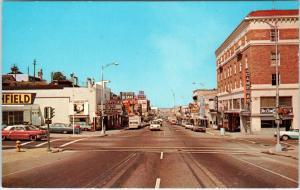 PORT ANGELES, WA Washington   STREET SCENE  c60s  Cars   Postcard