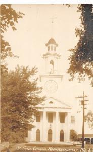 F21/ Kennebunkport Maine RPPC Postcard c1910 South Congregational Church