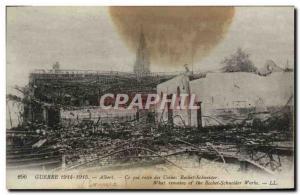 Old Postcard Albert What remains Schneider factories Army