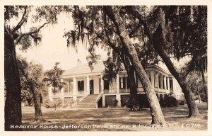 Biloxi Mississippi Beauvoir House Jefferson Davis Shrine Real Photo PC AA26632