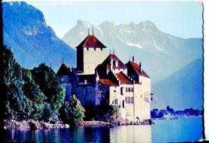 Postal 016551: LAC LEMAN - Le Chateau de Chilion et les Dents du Midi