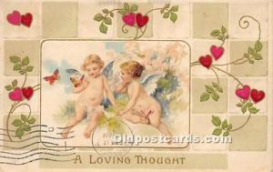 Valentines Day Post Cards Old Vintage Antique Postcards Unused