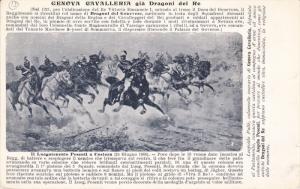 Italian Calvary Attack ; GENOVA Cavalleria gia Dragoni del Re , 00-10s