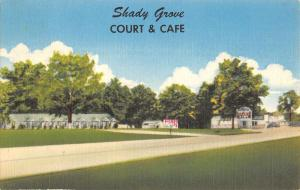 shady grove court and cafe DeQueen  arkansas L4446 antique postcard