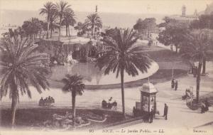 NICE, Alpes Maritimes, France, 1900-1910´s; LE Jardin Public