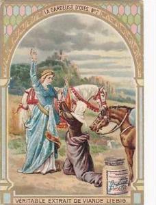 Liebig Vintage Trade Card S783 The Goose Girel No 2  La Gardeuse D'Oies
