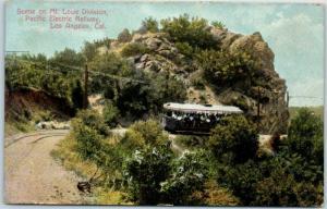 Vintage California Postcard Mt. Lowe Division, PACIFIC ELECTRIC RAILWAY c1910s
