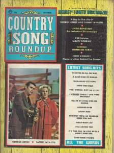 Country Song Roundup Vintage October 1970 Magazine George Jones Tammy Wynette