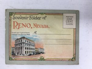 Early Reno NV Miniature Souvenir Postcard Folder Curt Teich