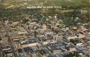 Pre-zip code Birdseye of Downtown Boise Idaho ID