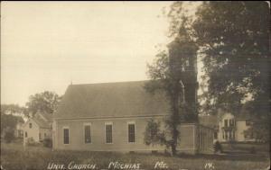 Machias ME Univ Church c1910 Real Photo Postcard