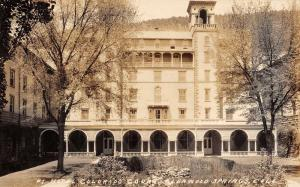 Glenwood Springs Colorado Hotel Court Real Photo Antique Postcard K22475