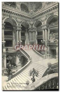 Old Postcard Paris Theater National Opera The Staircase honor