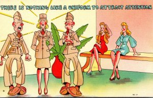 Humour Military There Is Nothing Like A Uniform To Attract Attention
