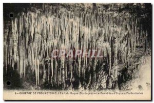 Old Postcard From Chasm Proumeyssac Bugue The Great Game of & # 39Orgues