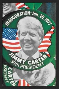 Carter Inauguration Green Political Pins Unused c1977