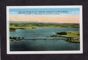 VT Lake Champlain Bridge Chimney Point  Lighthouse Vermont Crown New York NY