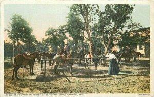 Arizona El Tovar Hotel Trail Party Grand Canyon 1907 Detroit Publishing 6968